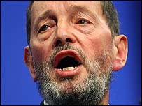 Home Secretary David Blunkett