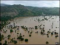 An aerial view of Mapou, southern Haiti