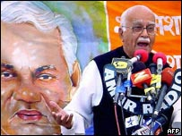 LK Advani on the campaign trail
