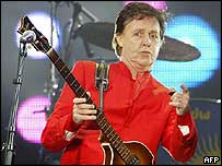 Sir Paul McCartney in concert in the Spanish city Santander on Tuesday