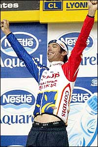 Britain's David Millar had promised to win a stage during the Tour and duly did the honours on stage 16