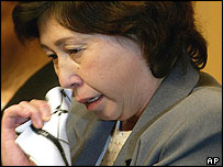 Hitomi Soga during a press conference by the five former Japanese abductees at a Tokyo hotel Saturday, May 22, 2004