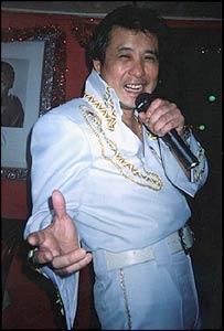 Paul Chan, an Elvis Presley impersonator