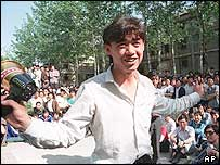 Wuer Kaixi during 1989 protests