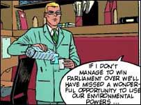 European Parliament comic strip