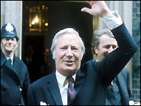 Edward Heath in Downing Street in 1971