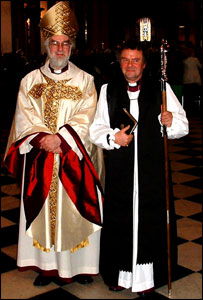 The Archbishop of Canterbury, The Most Rev'd Rowan Williams and the Bishop of Gloucester, The Rt Rev'd Michael Perham