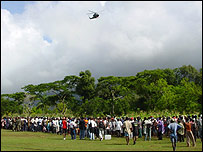 Helicopter over Mapou