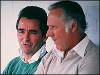 Brian Clough (left) and his assistant Peter Taylor