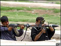Mehdi Army fighters in Kufa