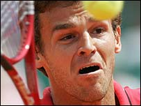 Kuerten is a three-time French Open champion
