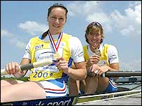 Cath Bishop (left) and Katherine Grainger