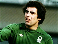 Former Nottingham Forest goalkeeper Peter Shilton