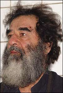 Saddam Hussein after capture by US forces