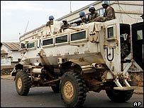 UN soldiers in Bukavu