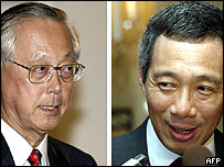 Undated photo of Goh Chok Tong (left) and Lee Hsien Loong