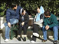 Young Tehran residents