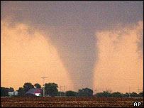 A tornado in southern Kansas