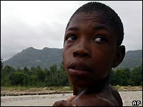 Boy at the Peredo River in Bel Roch, near Mapou