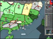 Screenshot from WW2 strategy game Hearts of Iron