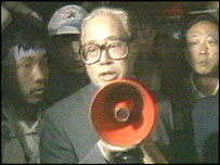 Zhao Ziyang, 19 May 1989, addressing the students in Tiananmen Square, Beijing