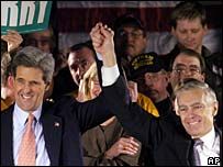 John Kerry and Wesley Clark