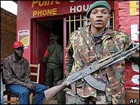 A Congolese soldier in Bukavu