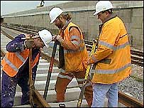 Rail repair work