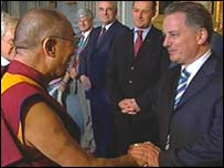 The Dalai Lama meets Jack McConnell and other political leaders