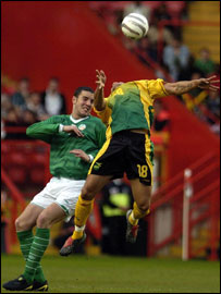 John O'Shea missed Saturday's 3-0 defeat by Nigeria
