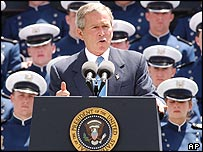 President Bush at the Air Force Academy in Colorado Springs