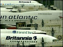 Manchester Airport planes