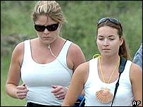 Jenna Bush (left) and friend on Camino de Santiago