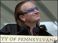 Singer Bono speaks at University of Pennsylvania graduation