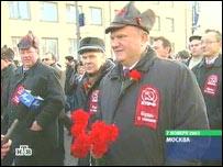 Зюганов на демонстрации 7 ноября