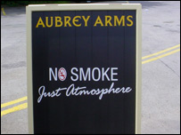 The Aubrey Arms sign