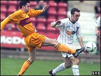 Jason Dair in action for Motherwell