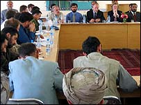 The UN and the British embassy meet in Mazar-e Sharif