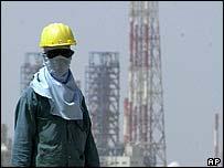 A Saudi oil worker