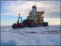 Ship on the ice floe, Acex