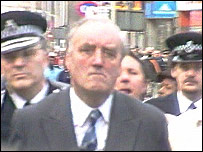 Home Secretary William Whitelaw visits Brixton after the riots