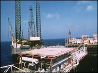 Qatari offshore oil rig