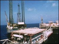 Qatari offshore oil rig