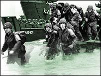Desembarco de tropas aliadas en las playas de Normandía.