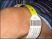 Barcode on patient