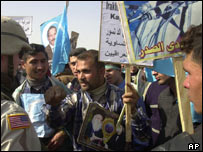Turkmen protest in Baghdad, February 2004