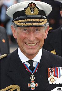 Prince Charles in navy uniform