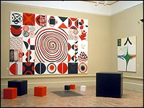 Sir Terry Frost's Contrasts in Red, Black and White
