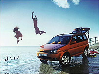 Hondas HR-V 4x4 vehicle advert poster