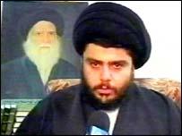 Radical Iraqi Shia cleric Moqtada Sadr
